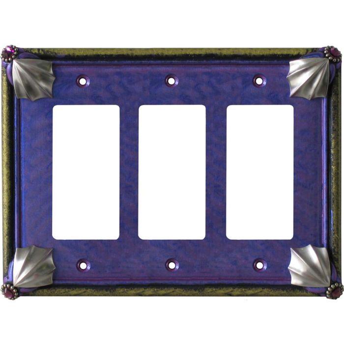 Cleo Periwinkle Jade Triple 3 Rocker GFCI Decora Light Switch Covers