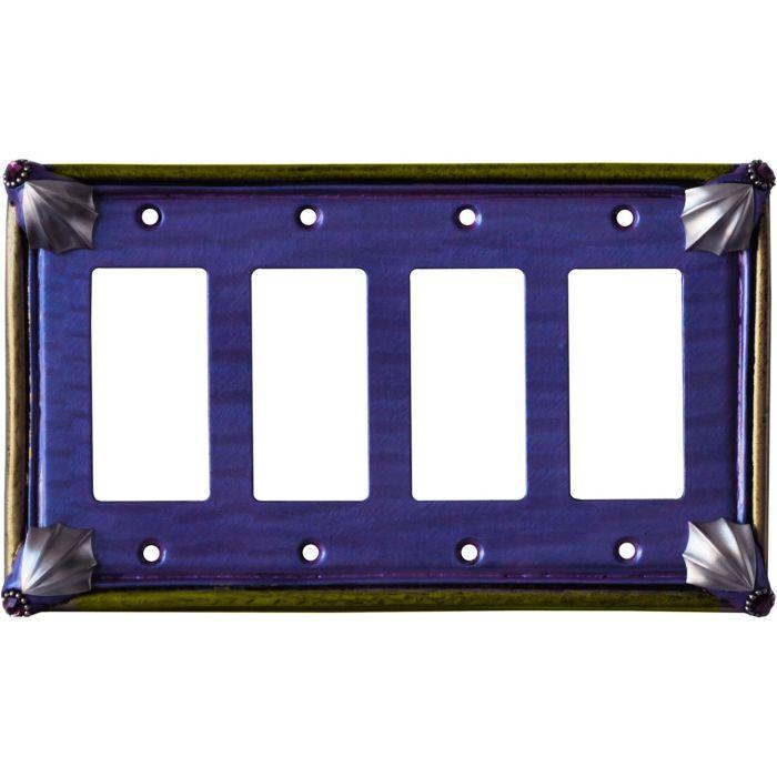Cleo Periwinkle Jade 4 Rocker GFCI Decorator Switch Plates