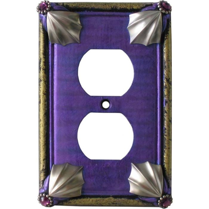 Cleo Periwinkle Jade 1 Gang Duplex Outlet Cover Wall Plate