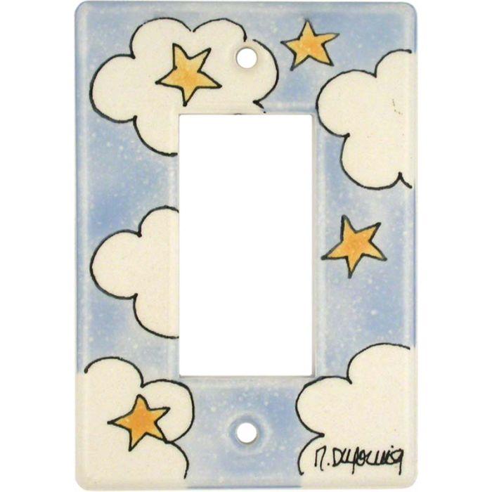 Cloud - Stars Single 1 Gang GFCI Rocker Decora Switch Plate Cover