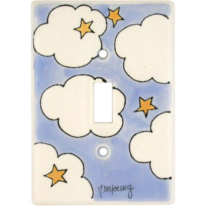 Cloud - Stars 1 Toggle Light Switch Cover
