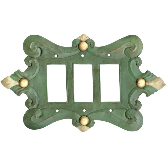 Compasse Green3 - Rocker / GFCI Decora Switch Plate Cover