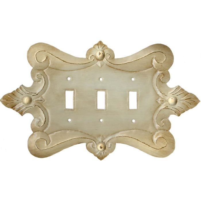 Compasse Triple 3 Toggle Light Switch Covers