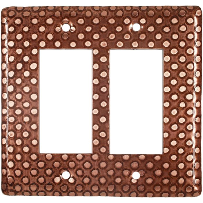 Copper Dots 2 Gang Decorator / GFCI Rocker Wall Plate Cover