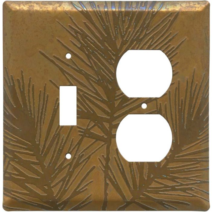 Copper Vine Combination 1 Toggle / Outlet Cover Plates