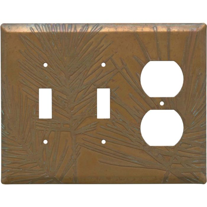 Copper Vine Double 2 Toggle / Outlet Combination Wall Plates