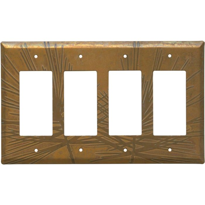 Copper Vine 4 Rocker GFCI Decorator Switch Plates
