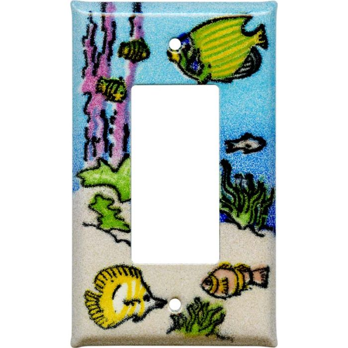 Coral Reef Fish Single 1 Gang GFCI Rocker Decora Switch Plate Cover