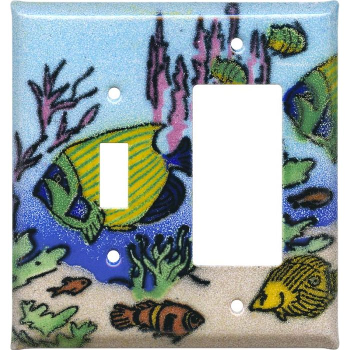 Coral Reef Fish Combination 1 Toggle / Rocker GFCI Switch Covers