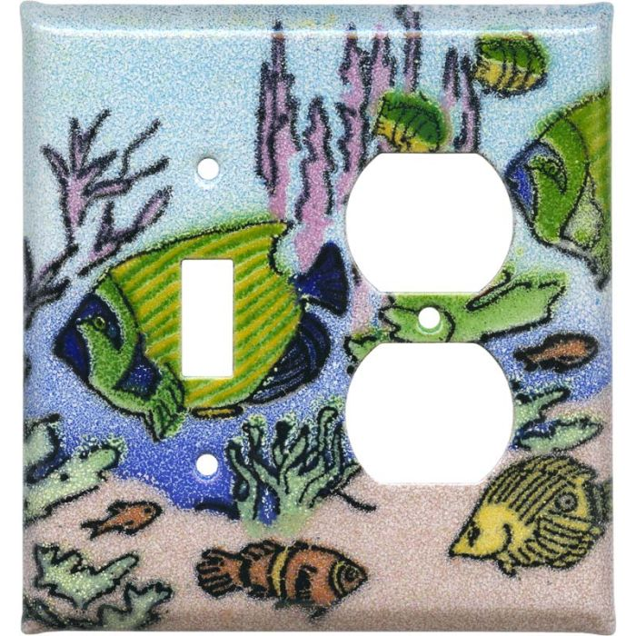 Coral Reef Fish Combination 1 Toggle / Outlet Cover Plates