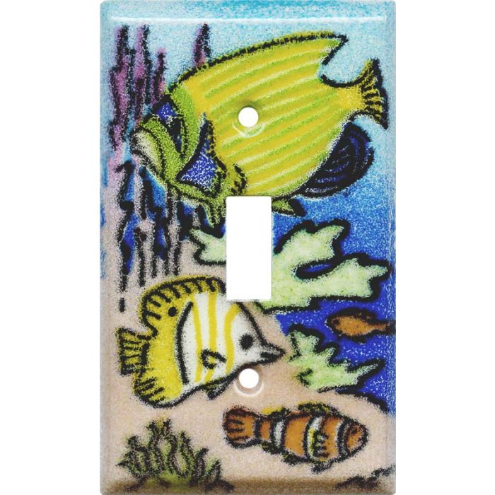 Coral Reef Fish Single 1 Toggle Light Switch Plates