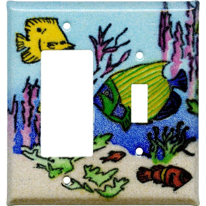 Coral Reef Fish1-Gang GFCI Decorator Rocker Switch Plate Cover
