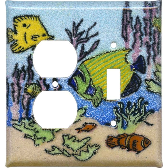 Coral Reef Fish1-Duplex / 1-Toggle - Combination Wall Plates
