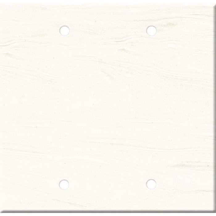 Corian Cirrus White Double Blank Wallplate Covers