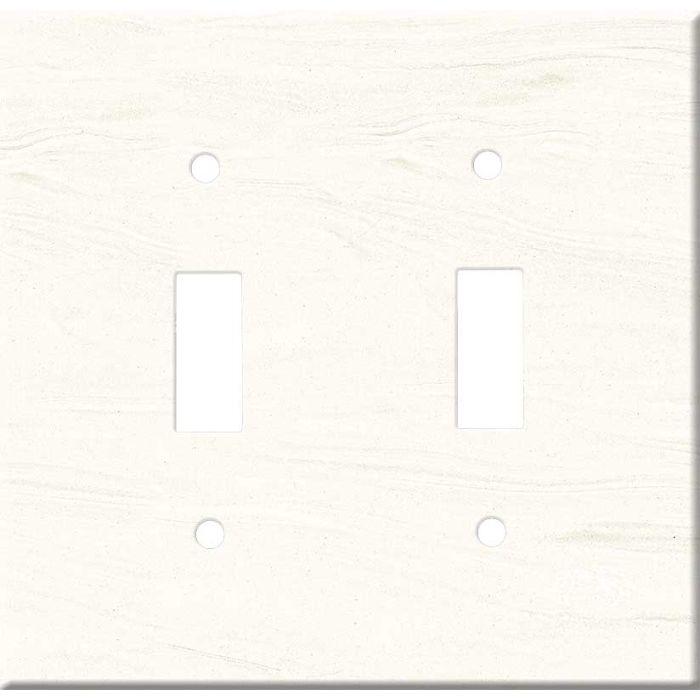 Corian Cirrus White 1 Toggle Light Switch Cover