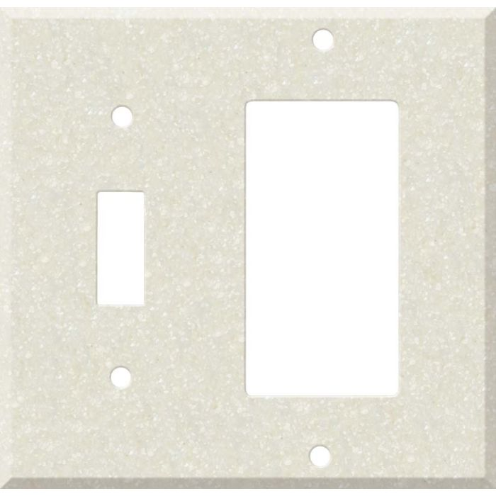 Corian Abalone Combination 1 Toggle / Rocker GFCI Switch Covers