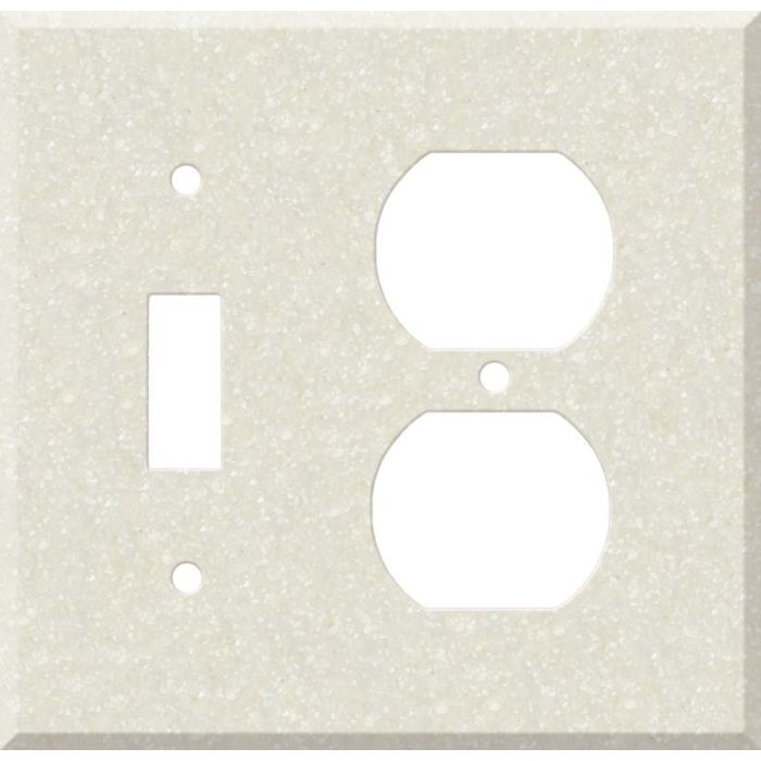 Corian Abalone Combination 1 Toggle / Outlet Cover Plates