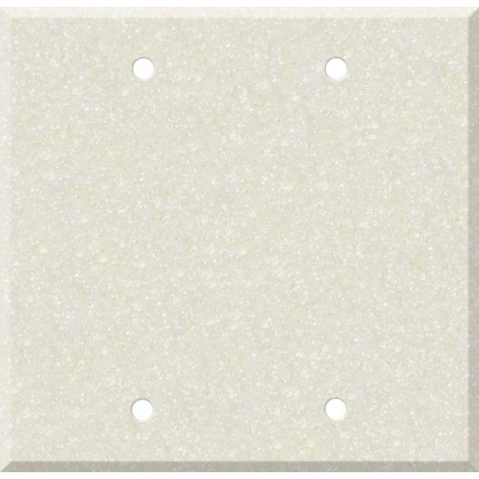 Corian Abalone Double Blank Wallplate Covers