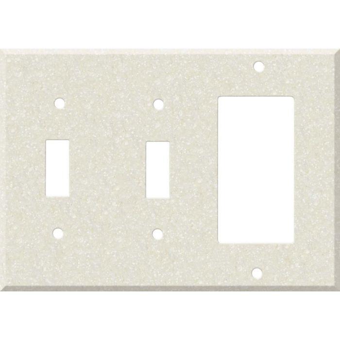 Corian Abalone Double 2 Toggle / 1 GFCI Rocker Combo Switchplates