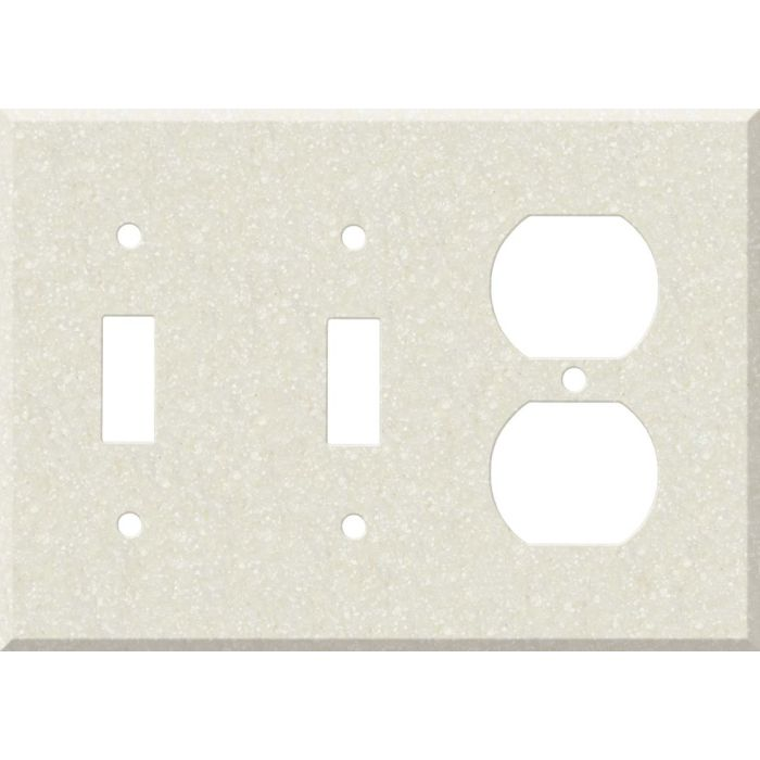 Corian Abalone Double 2 Toggle / Outlet Combination Wall Plates