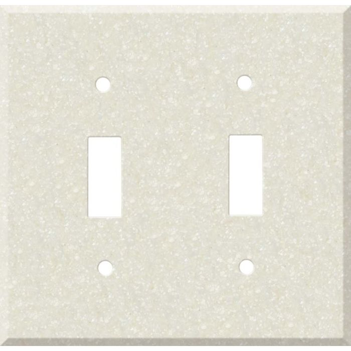 Corian Abalone Double 2 Toggle Switch Plate Covers