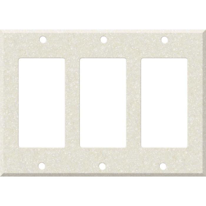 Corian Abalone Triple 3 Rocker GFCI Decora Light Switch Covers
