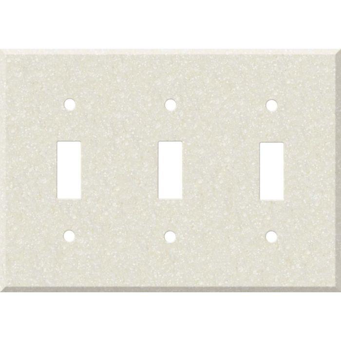 Corian Abalone Triple 3 Toggle Light Switch Covers