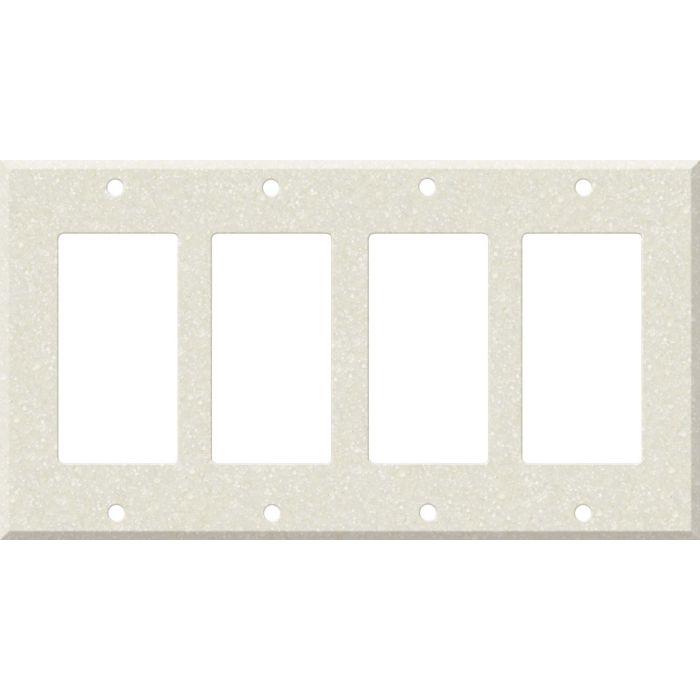 Corian Abalone 4 Rocker GFCI Decorator Switch Plates
