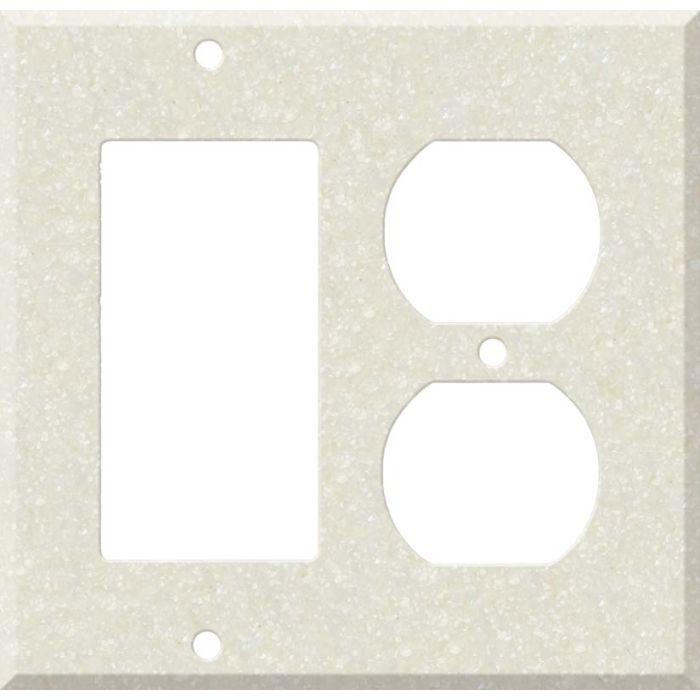 Corian Abalone Combination GFCI Rocker / Duplex Outlet Wall Plates
