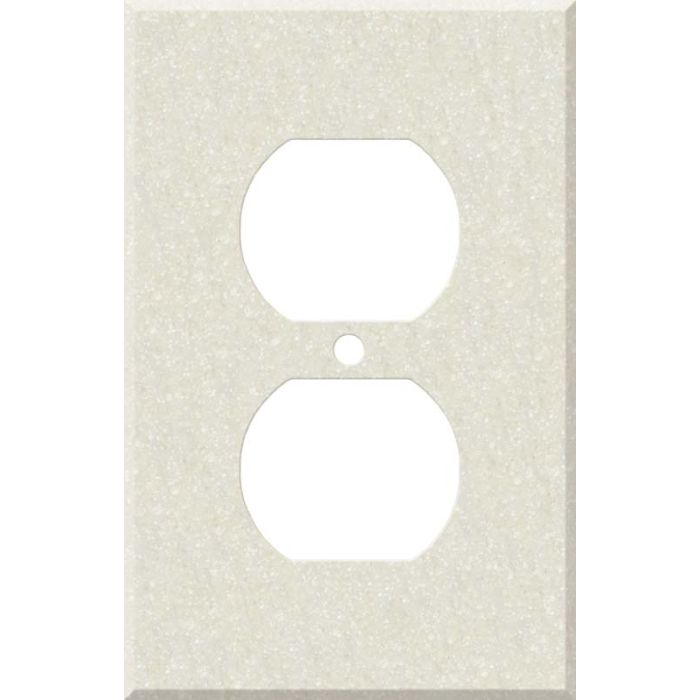 Corian Abalone 1 Gang Duplex Outlet Cover Wall Plate