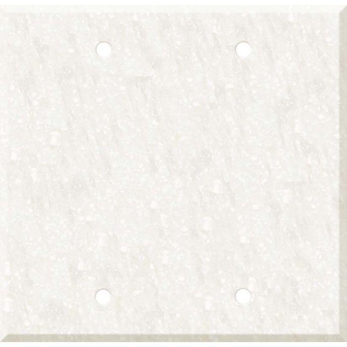Corian Antarctica Double Blank Wallplate Covers