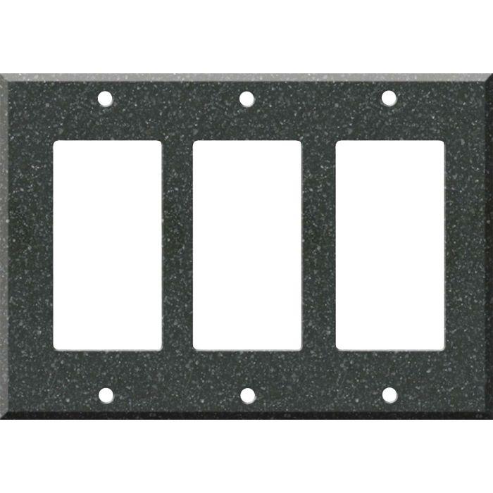 Corian Anthracite - 3 Rocker GFCI Decora Switch Covers