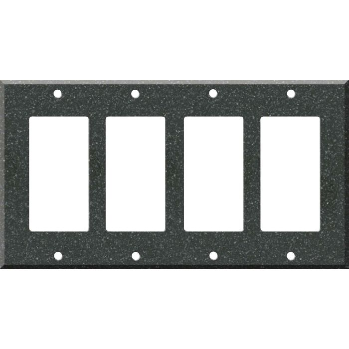 Corian Anthracite - 4 Rocker GFCI Decora Switch Plates