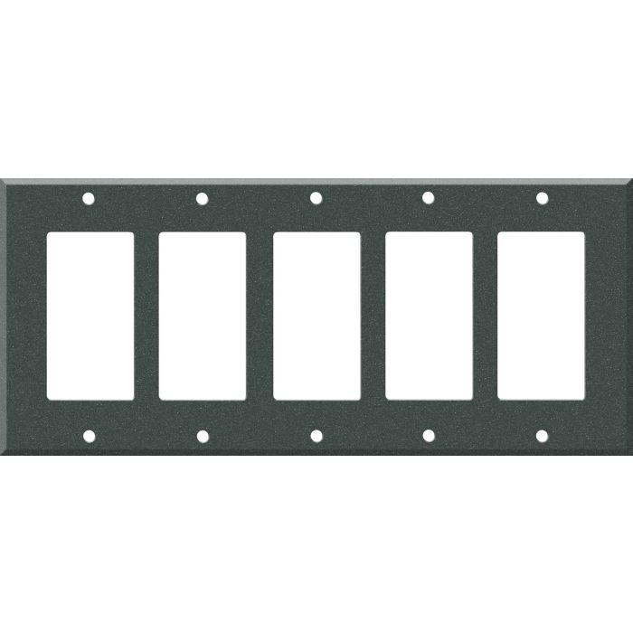 Corian Anthracite - 5 GFCI Rocker Decora Switch Covers