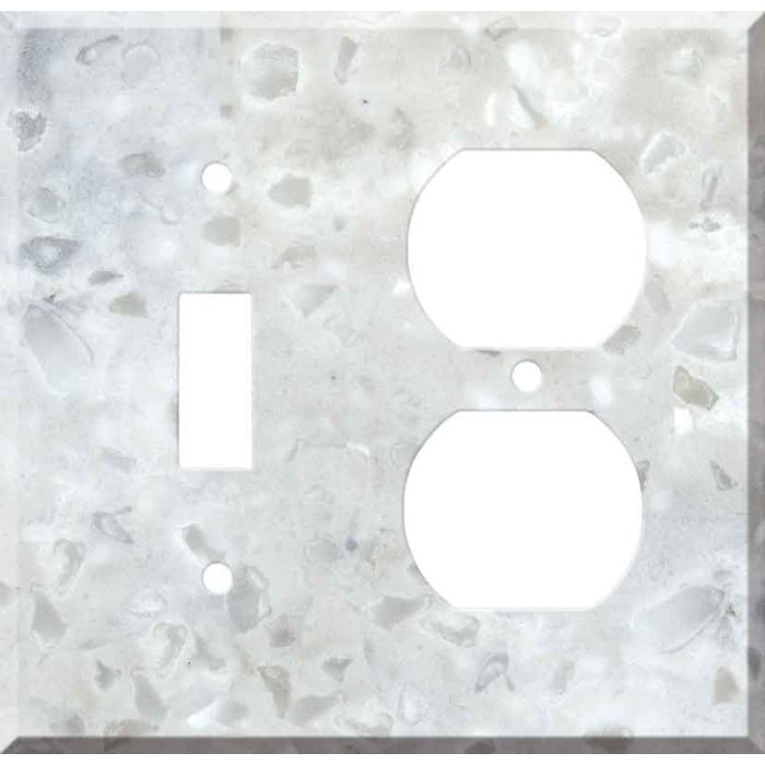 Corian Arrowroot Combination 1 Toggle / Outlet Cover Plates