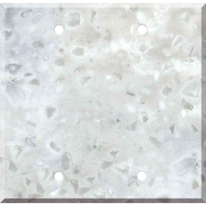 Corian Arrowroot Double Blank Wallplate Covers