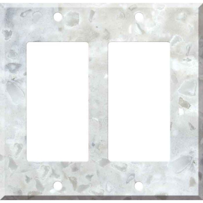 Corian Arrowroot 2 Gang Double GFCI Rocker Decorator Wallplates