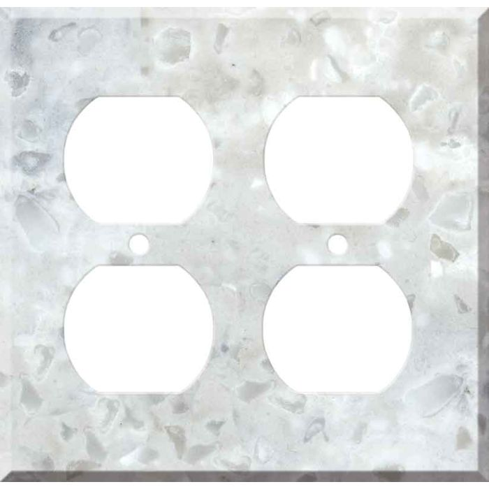 Corian Arrowroot 2 Gang Duplex Outlet Wall Plate Cover