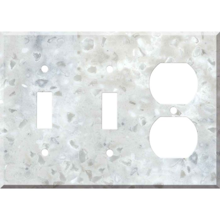 Corian Arrowroot Double 2 Toggle / Outlet Combination Wall Plates
