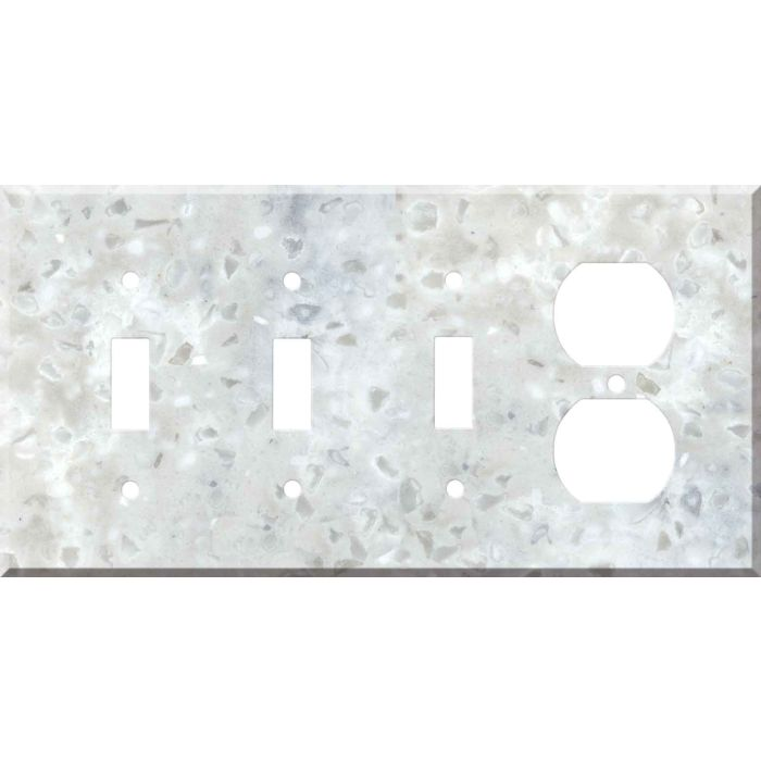 Corian Arrowroot Combination Triple 3 Toggle / Outlet Wall Plate Covers