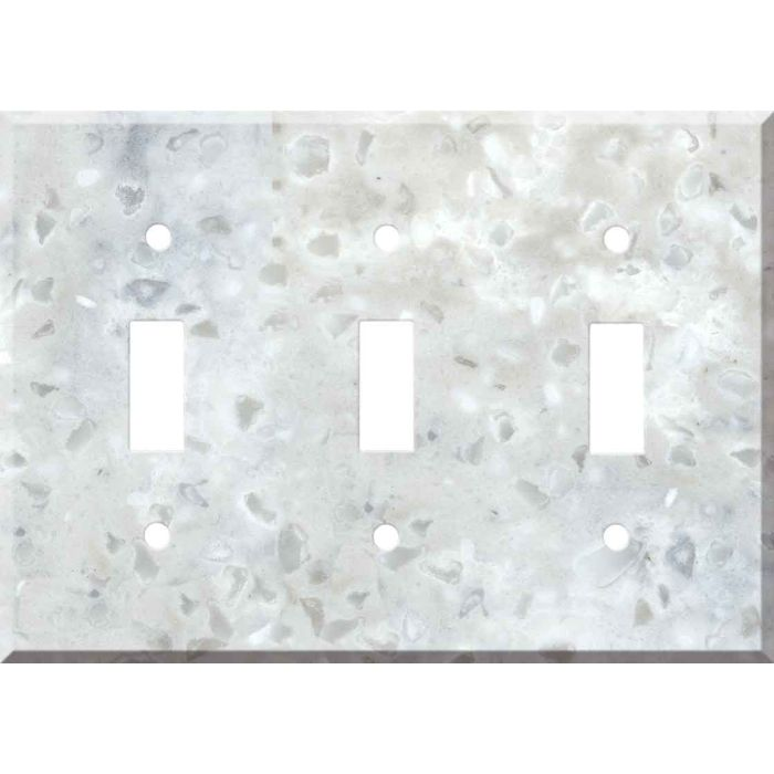 Corian Arrowroot Triple 3 Toggle Light Switch Covers