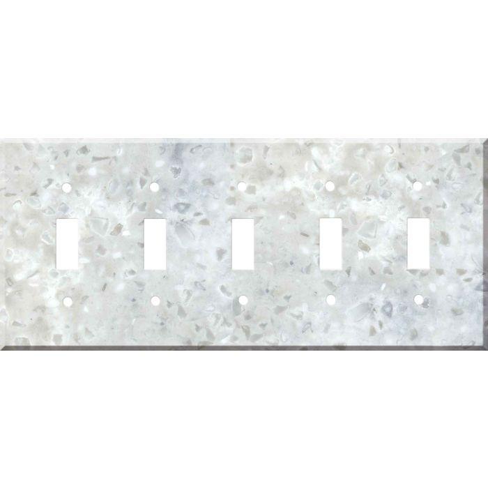 Corian Arrowroot 5 Toggle Wall Switch Plates
