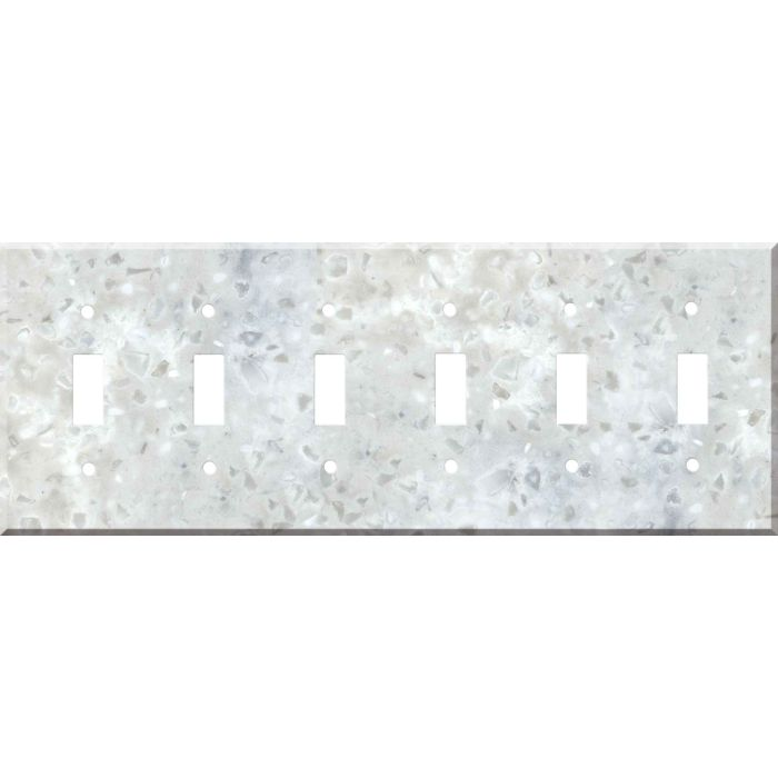 Corian Arrowroot 6 Toggle Wall Plate Covers