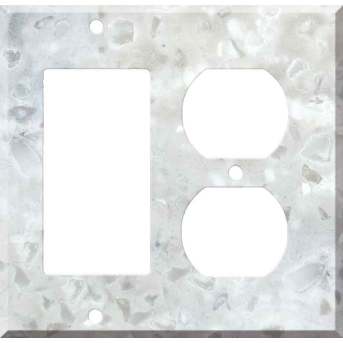 Corian Arrowroot Combination GFCI Rocker / Duplex Outlet Wall Plates