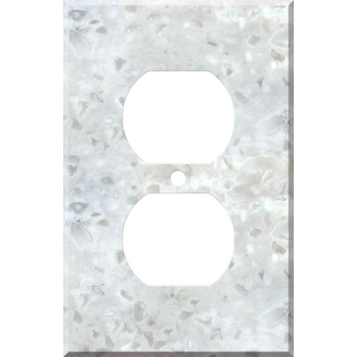 Corian Arrowroot 1 Gang Duplex Outlet Cover Wall Plate