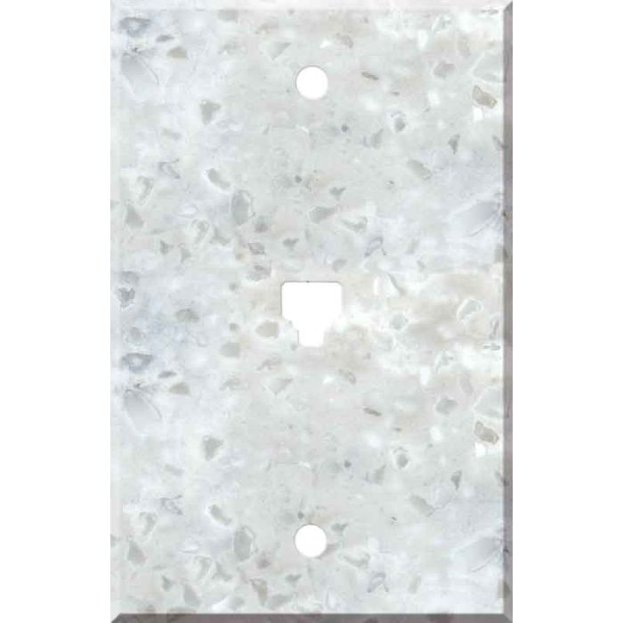 Corian Arrowroot 1 Toggle Light Switch Cover