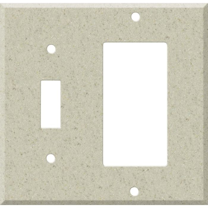 Corian Aurora Combination 1 Toggle / Rocker GFCI Switch Covers