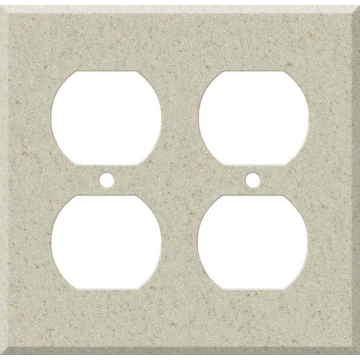 Corian Aurora 2 Gang Duplex Outlet Wall Plate Cover