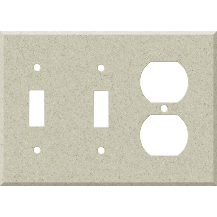 Corian Aurora Double 2 Toggle / Outlet Combination Wall Plates