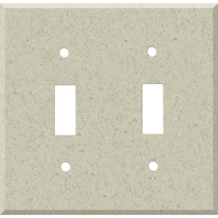 Corian Aurora Double 2 Toggle Switch Plate Covers